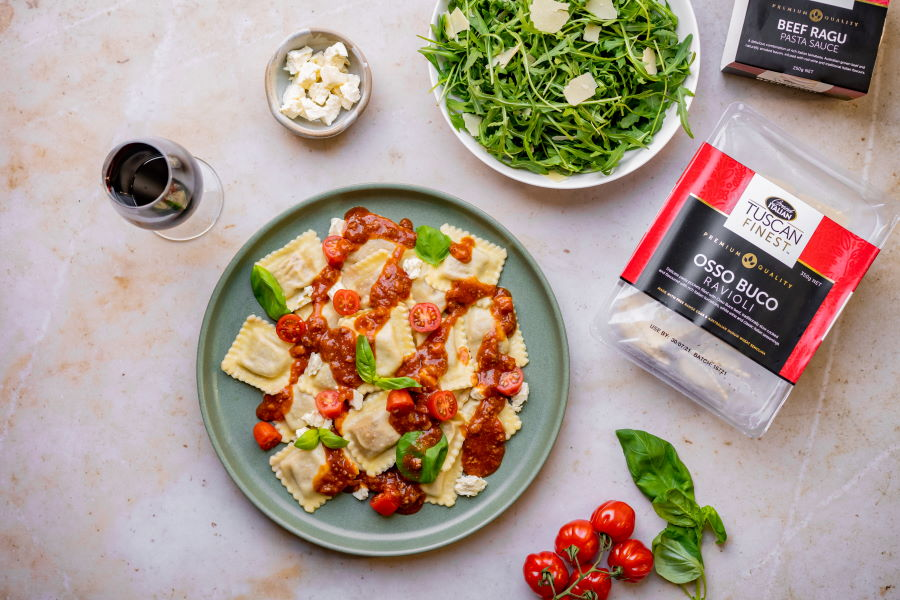 20210723 Grand Italian – Osso Buco Ravioli with Beef Ragu Sauce (1) RESIZED