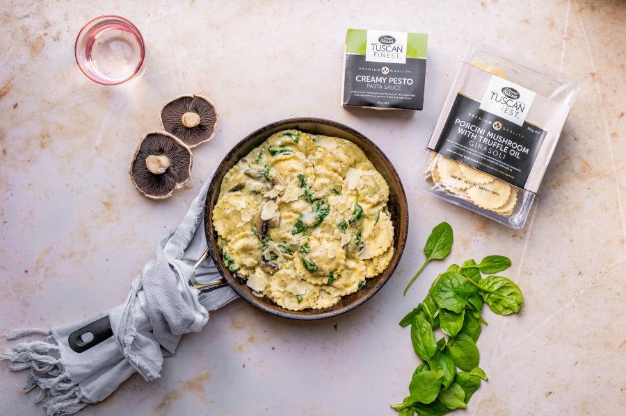 20210723 Grand Italian – Porcini Mushroom with Creamy Pesto Sauce 1 RESIZED