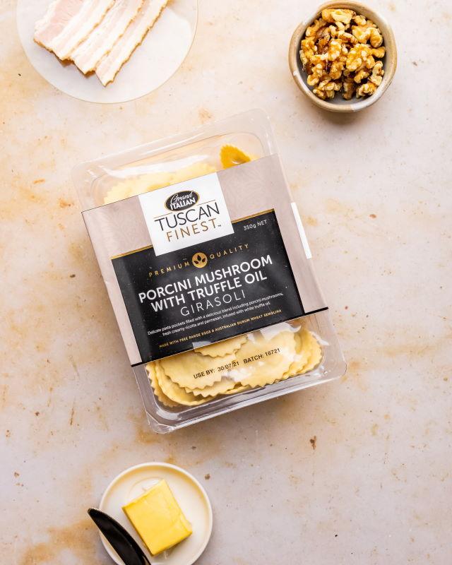 20210818 Grand Italian Porcini Mushroom Girasoli No Sauce (butter, walnut, thyme) – 09523 RESIZED