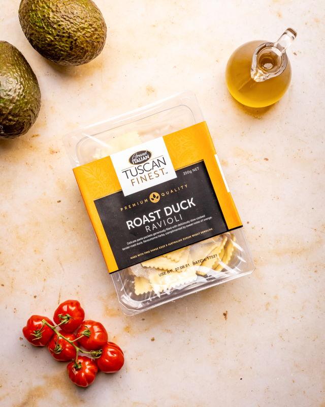20210818 Grand Italian Roast Duck Ravioli No Sauce (avocado, tomato, burrata) – 09603 RESIZED