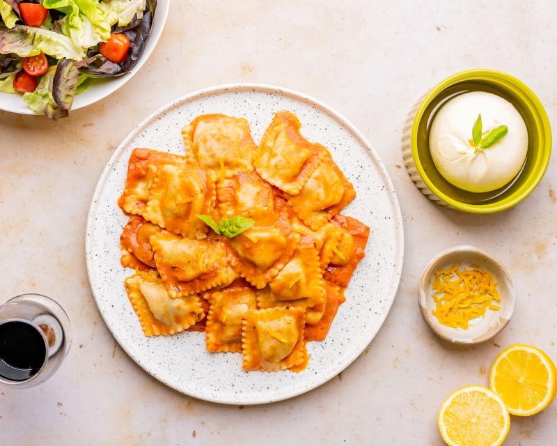 20210818 Grand Italian Roast Duck Ravioli With Vodka Tomato Sauce (burrata, lemon) – 09372 RESIZED