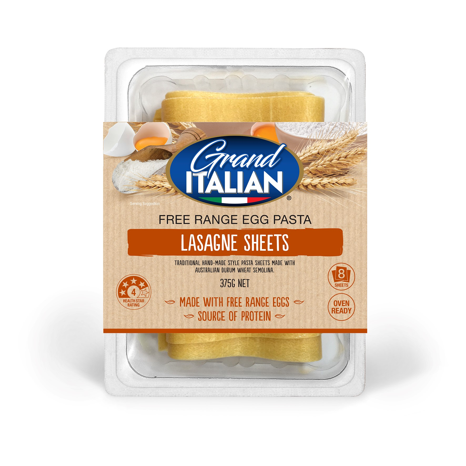 Grand Italian Lasagne Sheets 375g Linerless Concept